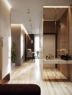 The Best Luxury Interior Design Projects With Stunning Living Rooms Home Entrance Decor, Entrance Design, Home Decor, Apartment Interior, Apartment Design, Apartment Door, Home Room Design, House Design, Flur Design