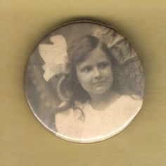Vintage Political Pinback Button Badge 1890s-1900s Sepia Tone Mourning Photo 20