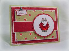 Believe by strappystamper - Cards and Paper Crafts at Splitcoaststampers Believe, Paper Crafts, Stamp, Button, Holiday, Cards, Vacations, Paper Craft Work, Stamps