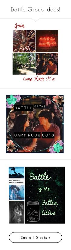 """""""Battle Group Ideas!"""" by leslie-seavey ❤ liked on Polyvore featuring GET LOST and Camp"""