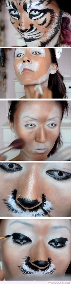 Wonderful tiger makeup tutorial