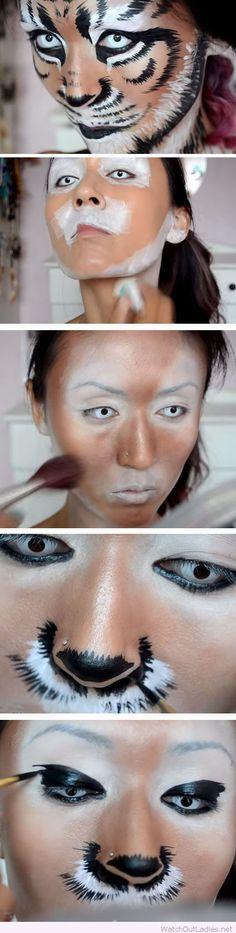 Wonderful tiger makeup tutorial