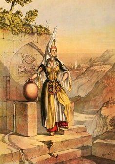 Druze girl, 19th c