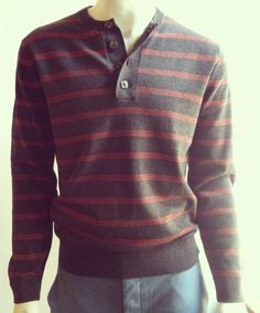 Love this stripe sweater for men! #FrenchConnection #shophouseofsage www.houseofsage.com www.facebook.com/shophouseofsage