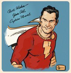 Captain Marvel by Doc Shaner