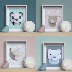 {Dossier DIY} 15 trophées d'animaux à réaliser! Diy Origami, Diy Room Decor, Nursery Decor, Diy Bebe, Paper Toys, Diy Paper, Diy For Kids, Diy And Crafts, Kids Room