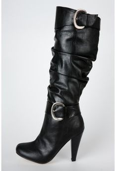 ShopStyle: Buckled Slouchy Boots