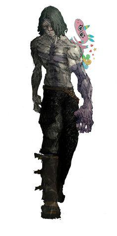 Rotten Core | 2D Fighting Game | Team Aiduzzi | MUGEN | Artworks | Character | Embargo | Purple Scream