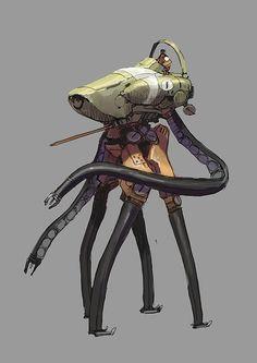 by Darren Bartley Robot Concept Art, Robot Art, Cyberpunk, Character Concept, Character Design, Ex Machina, Mechanical Design, Science Fiction Art, Sci Fi Art