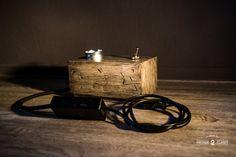Wood block light ROUGH Light van Vintage2Classy op Etsy