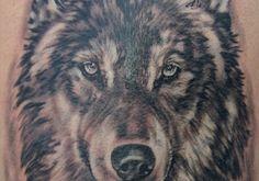Grey Ink Wolf Head Tattoo On Shoulder Head Tattoos, Wolf Tattoos, Small Tattoos, Girl Tattoos, Tattoos For Guys, Wolf Tattoo Design, Tattoo Designs, Lone Wolf Tattoo, Peonies Tattoo