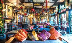 At Helga's Folly, a boutique hotel in historic Kandy, central Sri Lanka, amateur artists add to the distinctive murals – and get free bed and board via the Workaway website