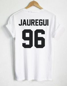 LAUREN JAUREGUI 96 Back letters print Women tshirts Cotton Casual Funny T Shirt For Lady Top Tee Hipster black white gray Z-291