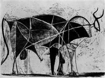 Bull (plate VI) - Pablo Picasso