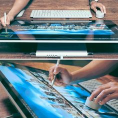 6 Surface Studio features that digital creatives will love: Professional grade power, for running hi Computer Desk Setup, Surface Studio, Cool Gadgets, Tech Gadgets, Drawing Tablet, Microsoft Surface, Office Interior Design, Studio S, Color Of Life