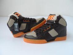 70.00$  Buy here - http://aliadz.worldwells.pw/go.php?t=32689836747 - Osiris Men NYC 83 SHR Skate Shoes Winter Warm With Fur Orange Black 70.00$