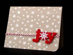 Snowflake Joy by SanFransister - Cards and Paper Crafts at Splitcoaststampers
