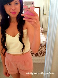 Classy Peach: Lovely Tutorial: Cropped Bustier Top