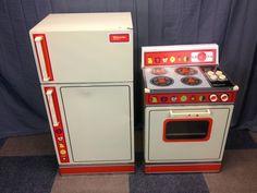 Wolverine Rite Hite child's size metal play  fridge/stove set.  I remember having the stove, but I'm not sure if I had the fridge too.
