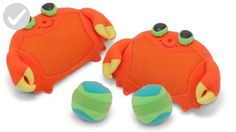 Melissa & Doug Sunny Patch Clicker Crab Toss & Grip Game: Catch more fun at the beach or in your back yard with these soft, self-stick mitts and balls. Clicker Crab Toss and Grip helps develop hand-eye coordination. Toys For Little Kids, Games For Kids, Toddler Toys, Kids Toys, Children's Toys, Best Outdoor Toys, Outdoor Play, Outdoor Games, Backyard Toys