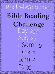 Bible Reading Challenge Day 239 #bibleinayear