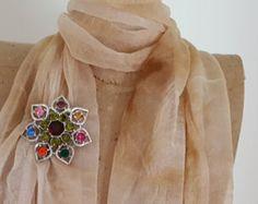 Signed Emmons Rhinestone Brooch - 1960 Emmons Vintage Flower Rhinestone Pin - Vintage Rhinestone Flower Pendant - Vintage Costume Jewelry - Edit Listing - Etsy