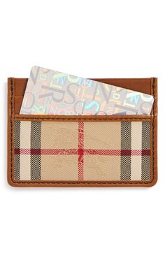 Burberry 'Sandon' Horseferry Check Card Case available at #Nordstrom