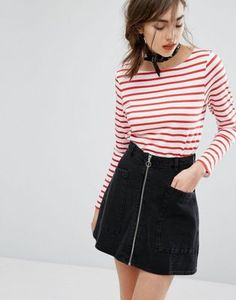 People Tree Organic Breton Stripe Long Sleeve T-Shirt