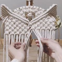 Hand-Woven Owl Large White Pure Cotton Macrame Wall Hanging / Boho Macrame Wall Decor / Woven Wall Hanging with Macrame Wall Hanging Patterns, Macrame Plant Hangers, Macrame Patterns, Woven Wall Hanging, Macrame Owl, Macrame Knots, Owl Patterns, Macrame Design, Hand Weaving
