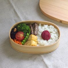 天然秋田杉 大館曲げわっぱ弁当箱 小判(小)