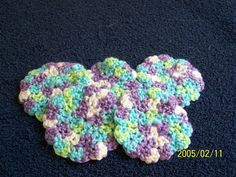 Crocheted baby scrubbies/washcloths bright by StepstoAdoption, $3.00