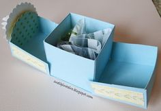 1 Easy Paper Crafts, Diy Crafts, Paper Gift Box, Baby Shower Cards, Noel Christmas, Cardmaking, Gift Wrapping, Craft Projects, Decorative Boxes