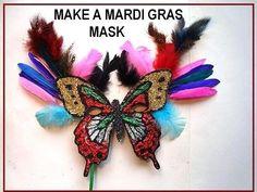 MARDI GRAS MASK, diy, how to make a handmade carnival mask