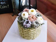 butter cream flower cake basket cake http://blog.naver.com/free13030