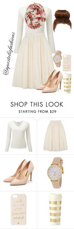"""""""Apostolic Fashions #1107"""" by apostolicfashions ❤ liked on Polyvore featuring Ted Baker, Rupert Sanderson, Kate Spade and Capelli New York"""