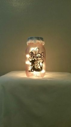 Excited to share the latest addition to my #etsy shop: Fairy night light, Tinker bell night light, silhouette fairy light, mason jar night light, fairy light mason jars, fairy light jars http://etsy.me/2zlqxCj