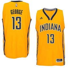 Indiana Pacers  13 Paul George 2014-15 New Swingman Alternate Gold Jersey  Indiana Pacers 485bd3500