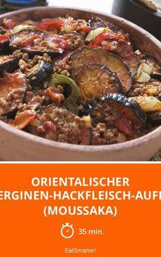 Orientalischer Auberginen-Hackfleisch-Auflauf (Moussaka) - smarter - Zeit: 35 Min. | eatsmarter.de