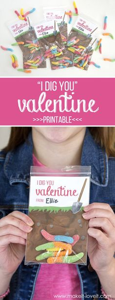 """F R E E Valentine Card Printables (...""""Star Wars"""" and """"gummy worm"""" themes!) 