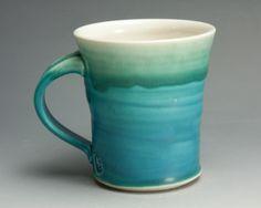 Your place to buy and sell all things handmade Pottery Mugs, Pottery Ideas, Mug Cup, Ideas Para, Stoneware, Glaze, Tea Cups, Coffee Mugs, Aqua
