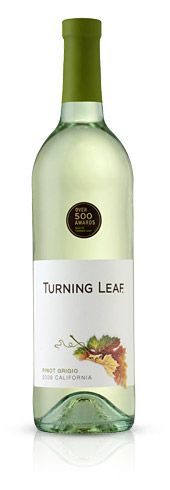 Turning Leaf Pinot Grigio features fruit richness with ripe apple and pear. A nicely balanced vintage, it boasts strong mineral and acidity on the finish.