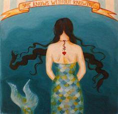 Mermaid Girl in the Midway, or She Knows Without Knowing, limited edition Circus Girl giclee print Sirens, Mermaid Tale, Ordinary Girls, Mermaids And Mermen, Girls Series, Merfolk, Pics Art, Sea Creatures, Under The Sea