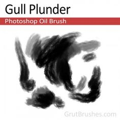 """Gull Plunder"" - Photoshop Oil BrushA soft flat oil brush that blends well and has a gentle cloud-like structure to it. Oil Brush, Artist Brush, Photoshop Brushes, Gull, Art Reference, Cool Photos, Cloud, Graphic Design, Flat"