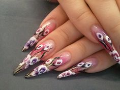 Acrylic Nails by Svetlana Leino www.blackouthair.fi