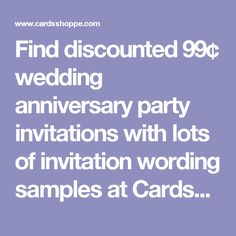 Exclusive wedding anniversary invitation designs currently discount to per party invite. Create lifetime memories with our trendy anniversary party invitations. Wedding Anniversary Invitations, Anniversary Parties, Invitation Wording, Invitation Design, Announcement, Stationery, Cards, Papercraft, Birthday Celebrations
