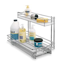 Lynk Professional Roll Out Under Sink Cabinet Organizer Pull Out Two Tier Sliding Shelf 115 inch wide x 18 inch deep Chrome ** To view further for this item, visit the image link. Under Sink Organization, Sink Organizer, Kitchen Cabinet Organization, Kitchen Storage, Storage Spaces, Kitchen Sink, Cabinet Organizers, Storage Ideas, Storage Solutions