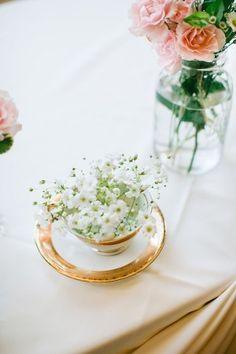 Tea Cup Wedding Centerpiece