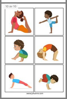 Yoga For Preschool Age - Helpful Techniques For workbenches - Poses Yoga Enfants, Kids Yoga Poses, Yoga For Kids, Exercise For Kids, Physical Activities For Kids, Gross Motor Activities, Physical Education, Toddler Activities, Preschool Yoga