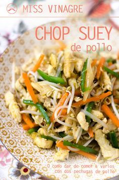 Quick, easy & mostly healthy. Healthy Cooking, Cooking Recipes, Healthy Recipes, Comida China Chop Suey, Vegetable Chop Suey, Vegetable Recipes, Chicken Recipes, Sushi Roll Recipes, China Food