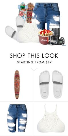"""""""-hold on, we're going home-"""" by idc-baby ❤ liked on Polyvore featuring Billabong, Melissa, Nikon, WithChic and GoPro"""